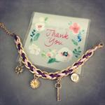 """Purple Bracelet ( with letter """" W """" )"""